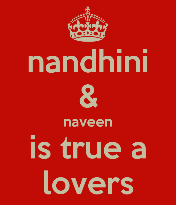 nandhini & naveen is true a lovers