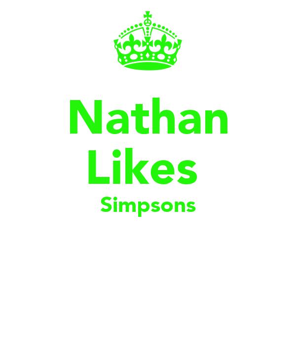 Nathan Likes  Simpsons
