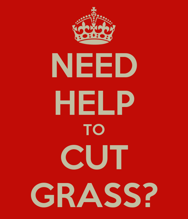 NEED HELP TO CUT GRASS?
