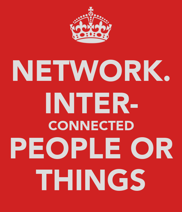 NETWORK. INTER- CONNECTED PEOPLE OR THINGS