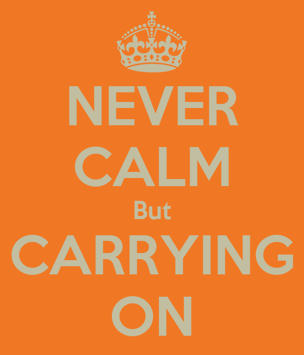 NEVER CALM But CARRYING ON