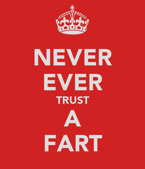 NEVER EVER TRUST A FART