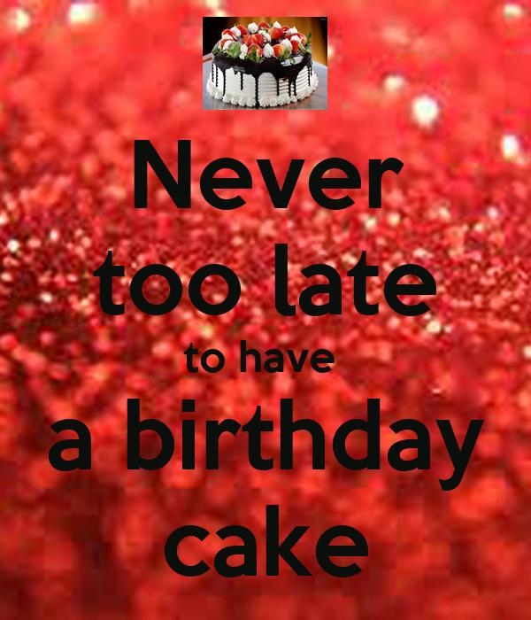 Never Too Late Christmas Cake