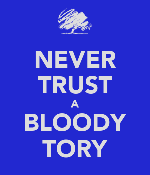 NEVER TRUST A BLOODY TORY
