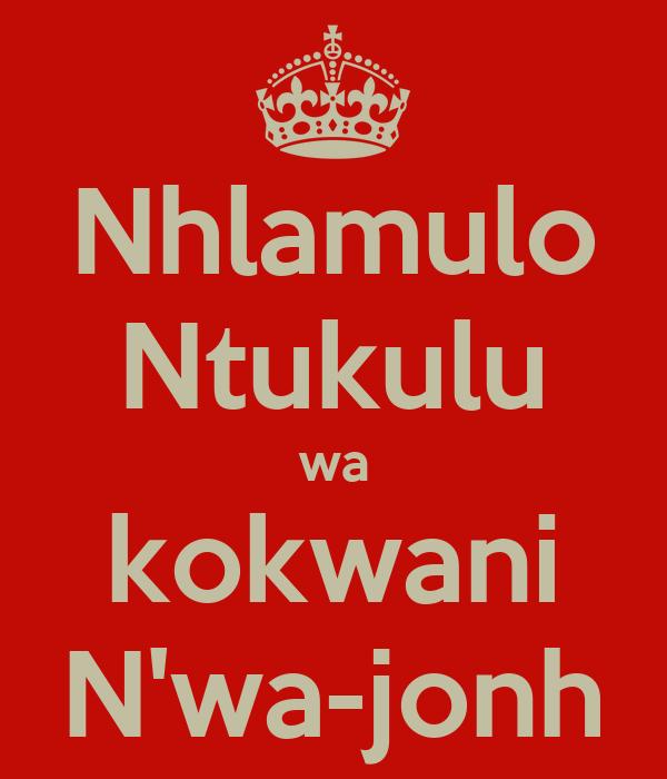 Nhlamulo Ntukulu wa kokwani N'wa-jonh
