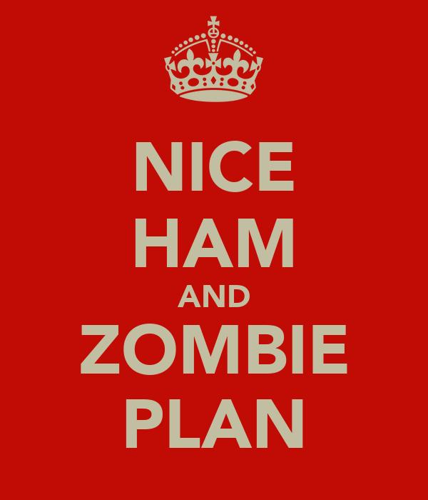 NICE HAM AND ZOMBIE PLAN