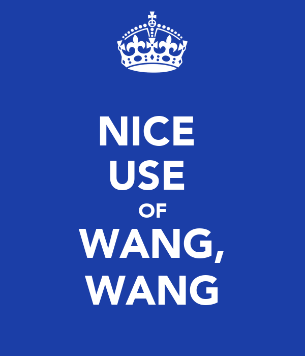 NICE  USE  OF WANG, WANG