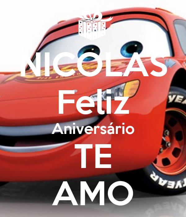 NICOLAS Feliz Aniversário TE AMO