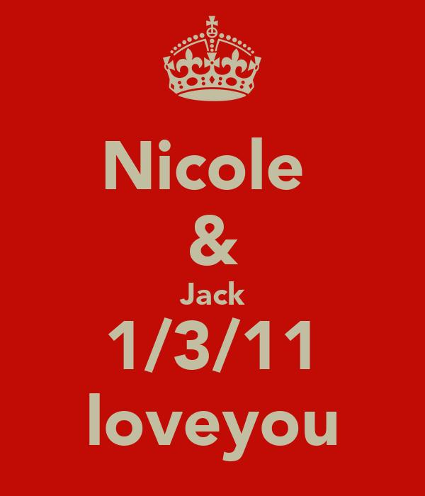 Nicole  & Jack 1/3/11 loveyou