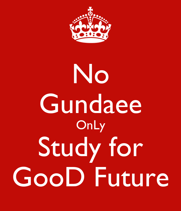 No Gundaee OnLy Study for GooD Future