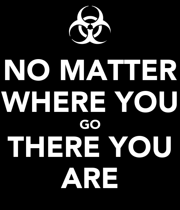 NO MATTER WHERE YOU GO THERE YOU ARE