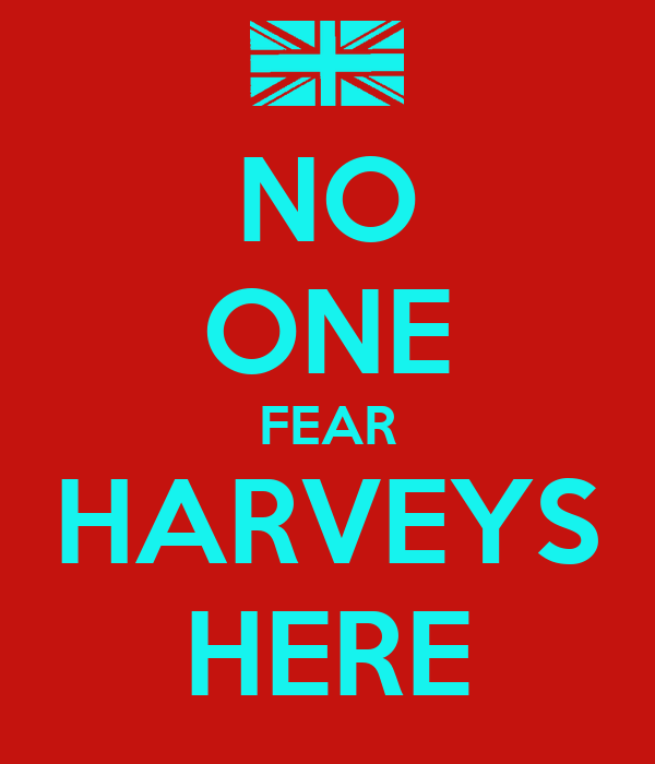 NO ONE FEAR HARVEYS HERE