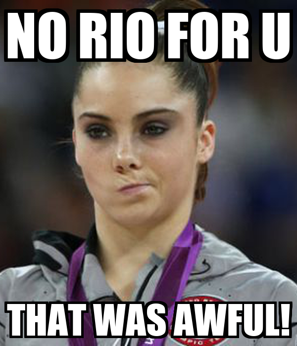 NO RIO FOR U THAT WAS AWFUL!