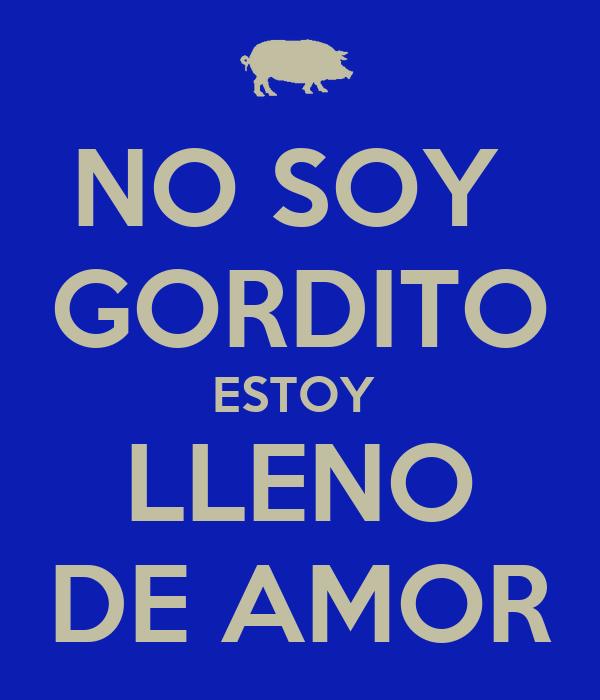 NO SOY  GORDITO ESTOY  LLENO DE AMOR