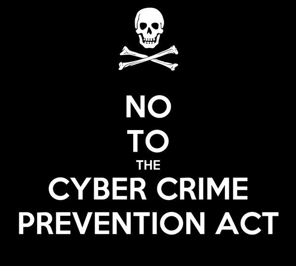 NO TO THE CYBER CRIME PREVENTION ACT