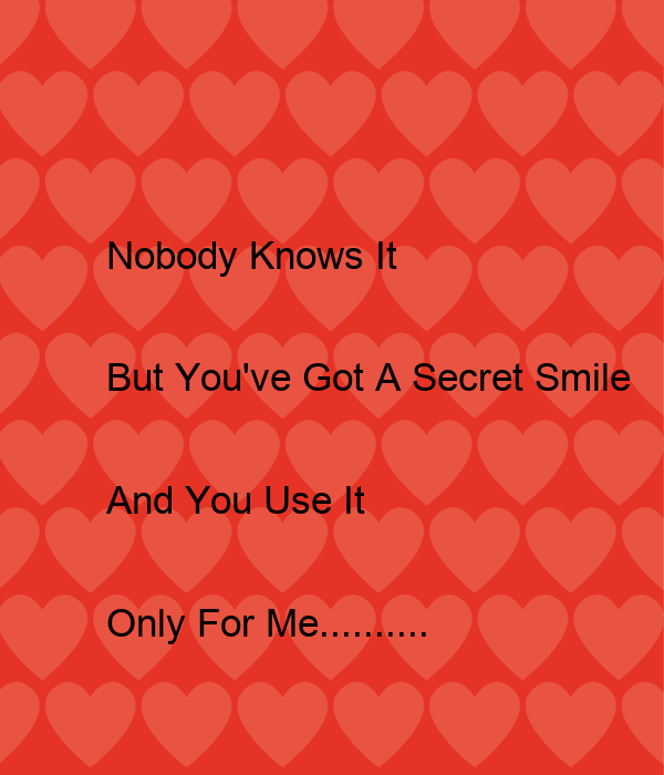 Nobody Knows It