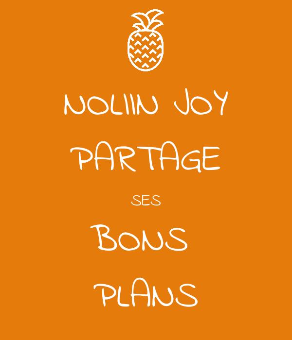 NOLIIN JOY PARTAGE SES BONS  PLANS