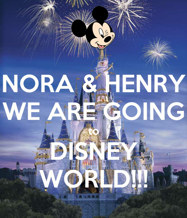 NORA & HENRY WE ARE GOING to DISNEY WORLD!!!