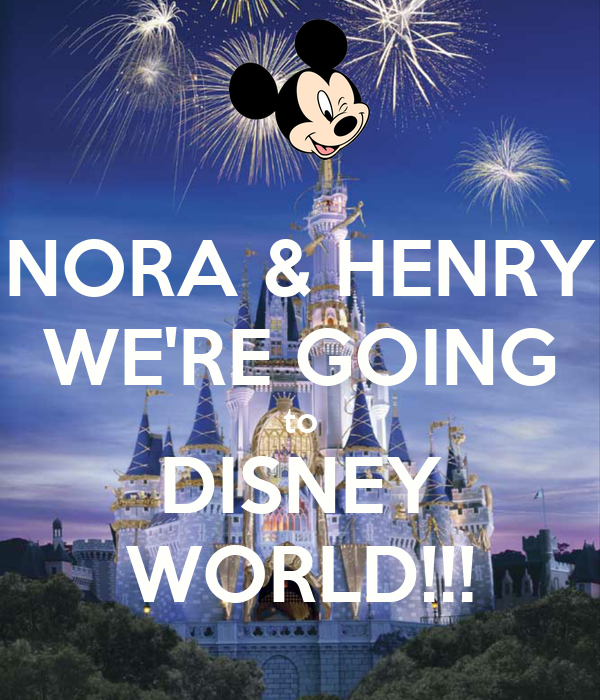 NORA & HENRY WE'RE GOING to DISNEY WORLD!!!