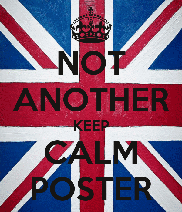 NOT ANOTHER KEEP CALM POSTER
