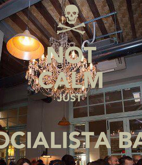 NOT CALM JUST   SOCIALISTA BAR