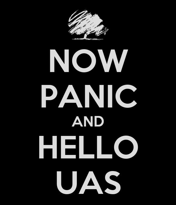 NOW PANIC AND HELLO UAS