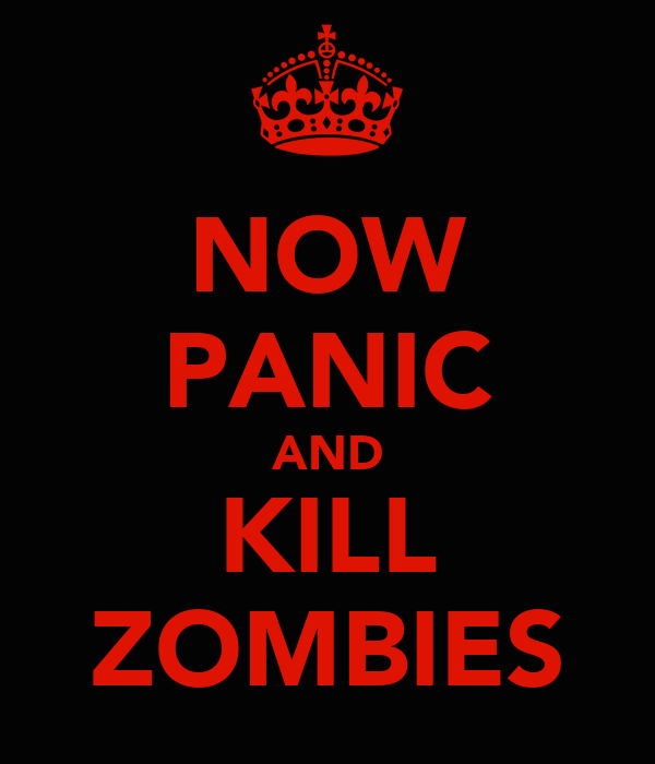 NOW PANIC AND KILL ZOMBIES