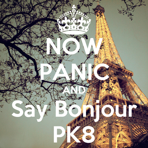 NOW PANIC AND Say Bonjour PK8