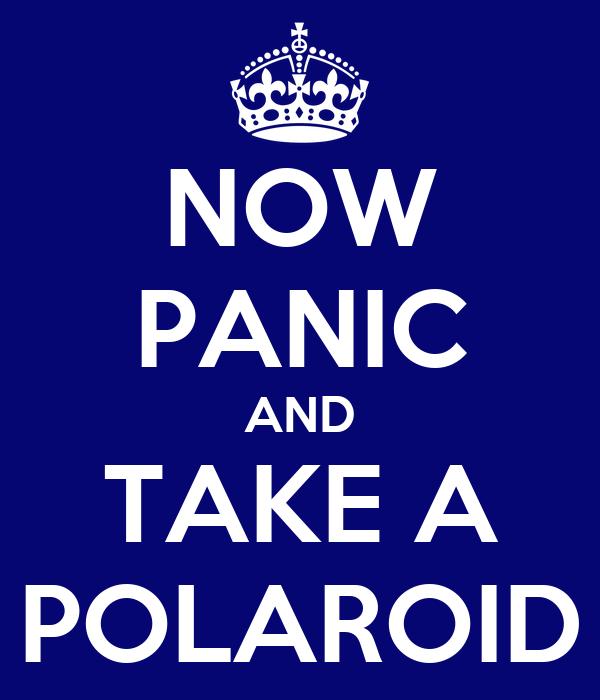 NOW PANIC AND TAKE A POLAROID
