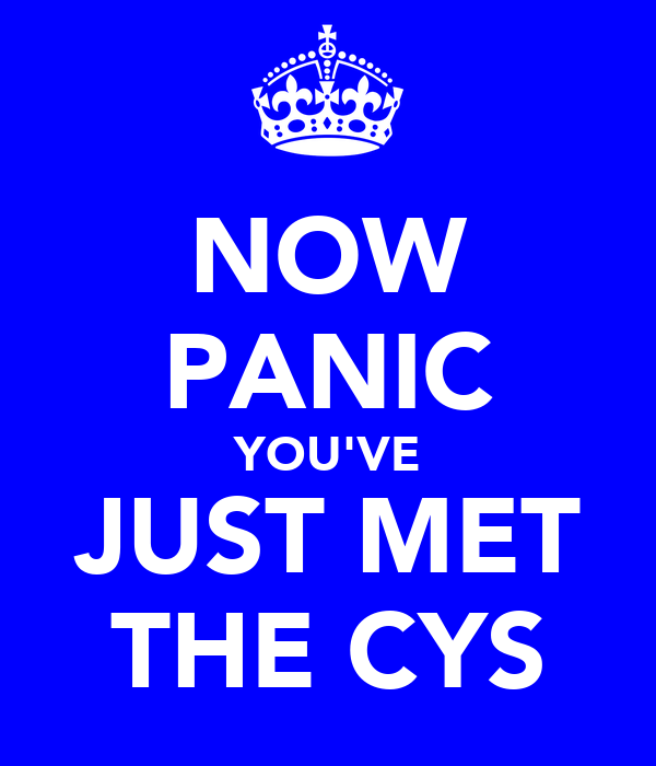 NOW PANIC YOU'VE JUST MET THE CYS