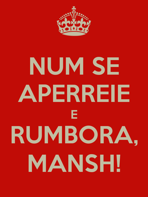 NUM SE APERREIE E RUMBORA, MANSH!