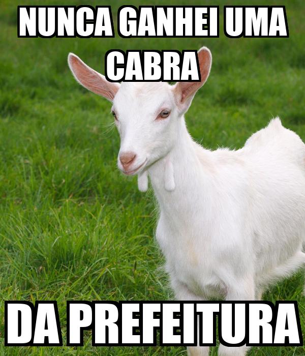 NUNCA GANHEI UMA CABRA DA PREFEITURA