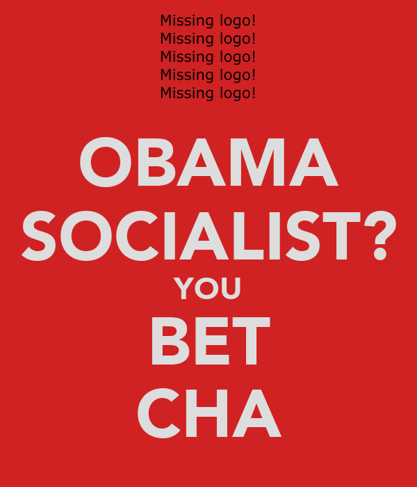OBAMA SOCIALIST? YOU BET CHA