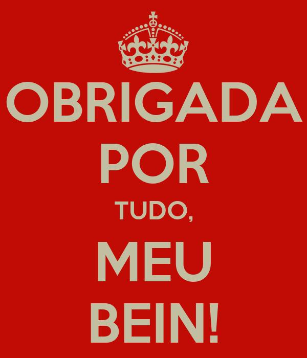 OBRIGADA POR TUDO, MEU BEIN!