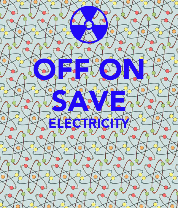 OFF ON SAVE ELECTRICITY