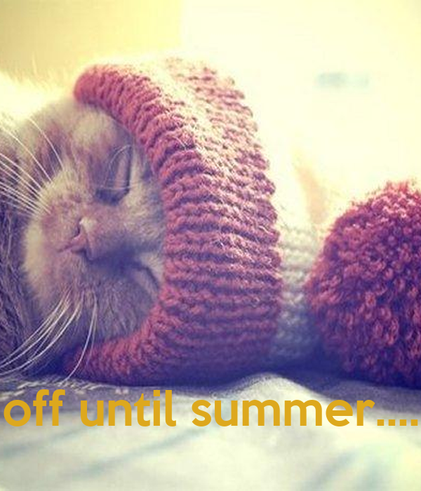 off until summer....