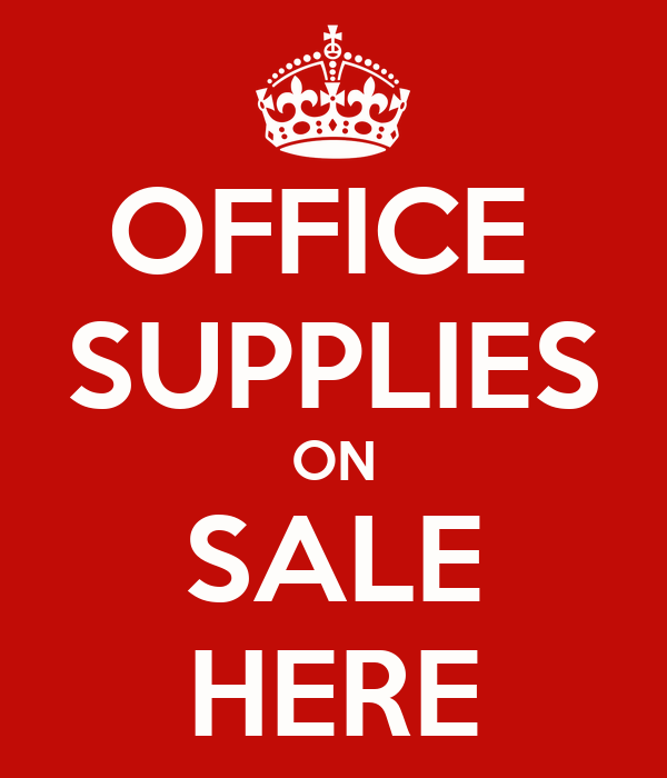 OFFICE  SUPPLIES ON SALE HERE