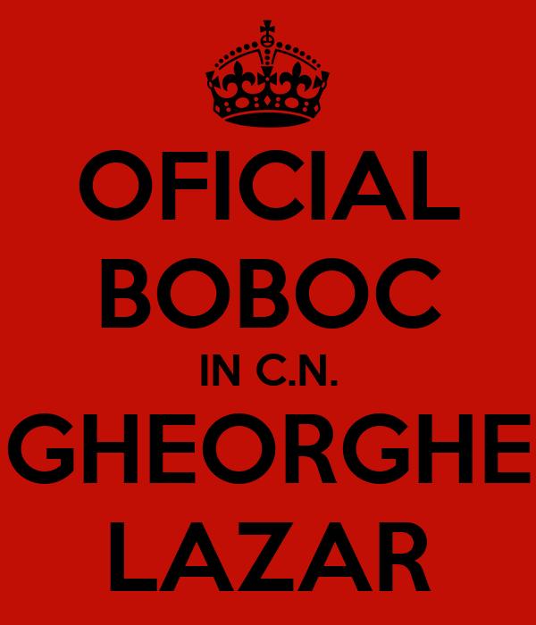 OFICIAL BOBOC IN C.N. GHEORGHE LAZAR