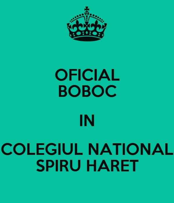 OFICIAL BOBOC IN COLEGIUL NATIONAL SPIRU HARET