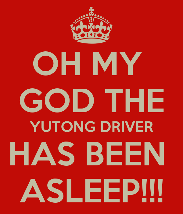 OH MY  GOD THE YUTONG DRIVER HAS BEEN  ASLEEP!!!