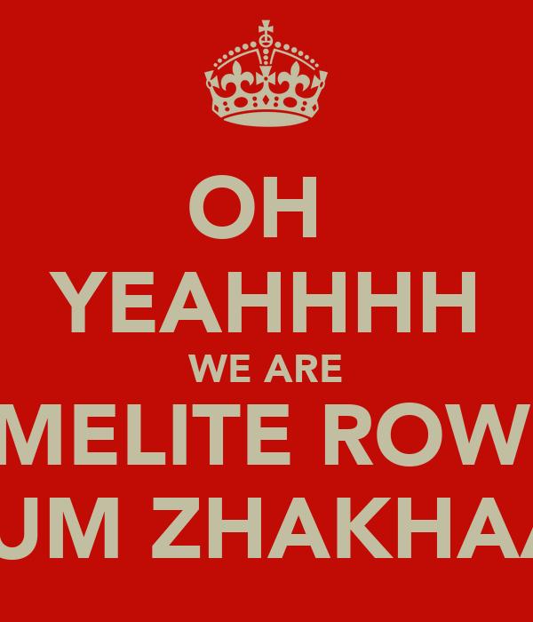 OH  YEAHHHH WE ARE CARMELITE ROWDY'S EK DUM ZHAKHAAAAS