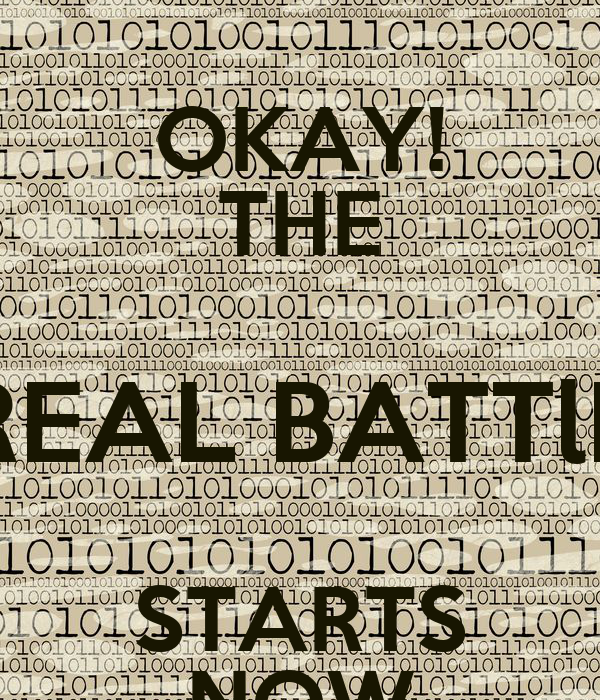 okay the real battle starts now poster prince keep calm o matic