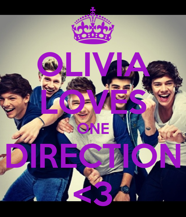 OLIVIA LOVES ONE DIRECTION <3