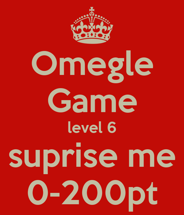 Omegle points game 3