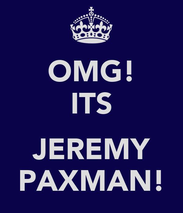 OMG! ITS  JEREMY PAXMAN!