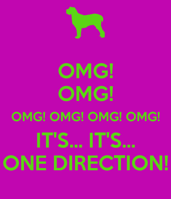 OMG! OMG! OMG! OMG! OMG! OMG! IT'S... IT'S... ONE DIRECTION!