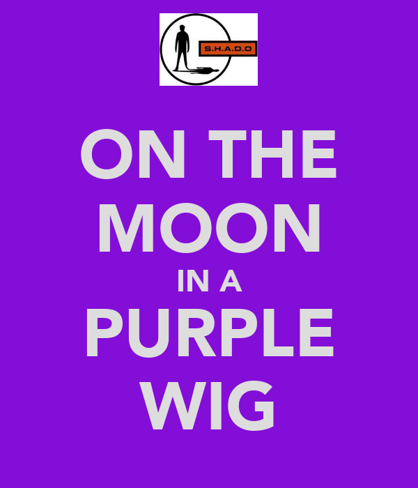 ON THE MOON IN A PURPLE WIG