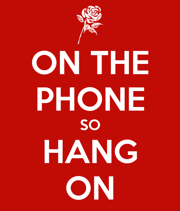 ON THE PHONE SO HANG ON