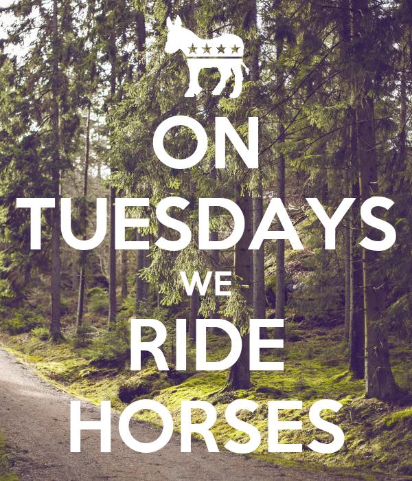 ON TUESDAYS WE RIDE HORSES
