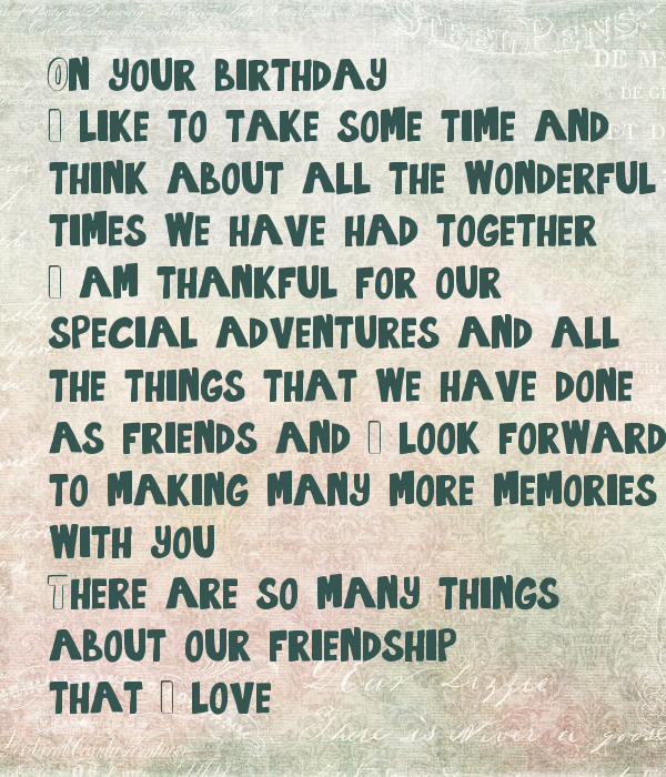 On your birthday, 